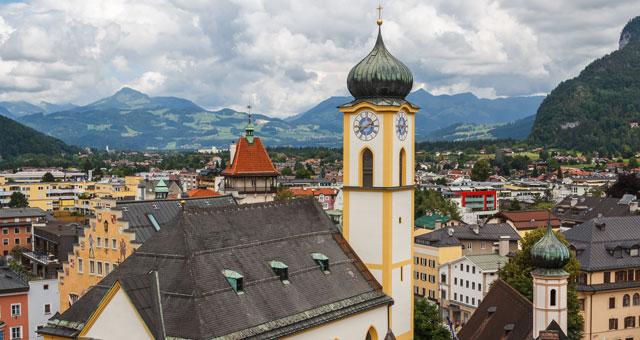 Kufstein von oben mit Kirche
