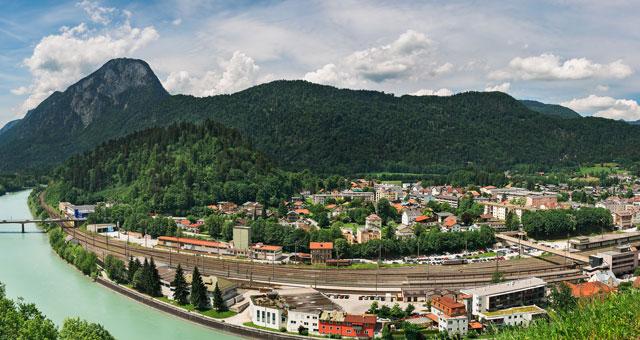 Blick auf Bahnnetz Kufstein