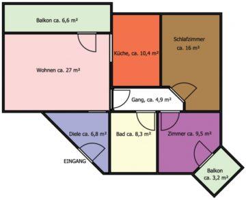 Kitzbühel – 3-Zimmerwohnung in zentrumsnaher Lage, 6370 Kitzbühel, Etagenwohnung