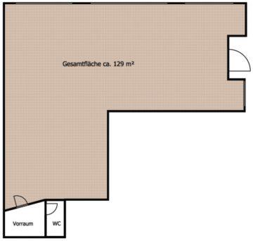Wörgl – Zentrum : ebenerdige Geschäftsfläche mit dreiseitig umlaufender Schaufensterfläche, 6300 Wörgl, Ladenlokal