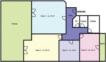 Wörgl – Zentrum: Schöne helle Büroräume mit riesiger Terrasse, 6300 Wörgl, Bürofläche