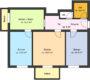 3-Zimmerwohnung mit 2 Balkonen - Grundriss