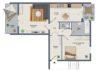 Gut geschnittene 2-Zimmerwohnung in Zentrums-Randlage - Grundriss